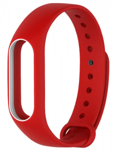 Ремешок для браслета Xiaomi Mi Band 2 Red/White (Р28380)
