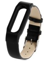 Ремешок для браслета Xiaomi Mi Band Leather Black (Лицензия) (Р25300)