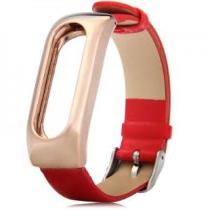 Ремешок для браслета Xiaomi Mi Band Leather Red (Лицензия) (Р25299)