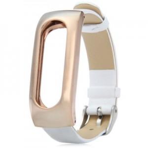 Ремешок для браслета Xiaomi Mi Band Leather White (Лицензия) (Р25298)