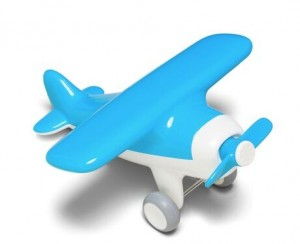 Игрушка Kid O 'Первый самолет, голубой' (10366)