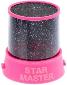 Подарок Проектор звездного неба Star Master розовый