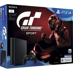 Приставка Sony PlayStation 4 Slim 1Tb Black (игра 'Gran Turismo Sport' в подарок) (официальная гарантия)