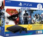 Приставка Sony PlayStation 4 Slim 500 Gb Black (игры Horizon Zero Dawn, Uncharted-4, God of War и подписка PlayStation-Plus в подарок) (официальная гарантия)