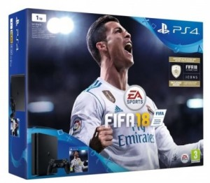 Приставка Sony PlayStation 4 Slim 1Tb Black (игра 'FIFA 2018' в подарок) (официальная гарантия)