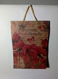 Подарок Подарочный крафтовый пакет (32 x 23 x 8,5 см)