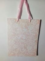 Подарок Подарочный пакет с объемной краской и с глиттером  (23 x 18 x 10 см)