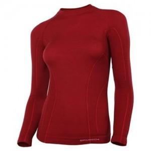 Женская термофутболка с длинным рукавом Brubeck Active Wool brick red M (LS12810-brick red-M)