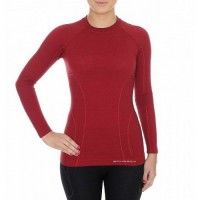 Женское термобелье Brubeck Active Wool black/brick red M (LS12810-LE11700 brick red-M)