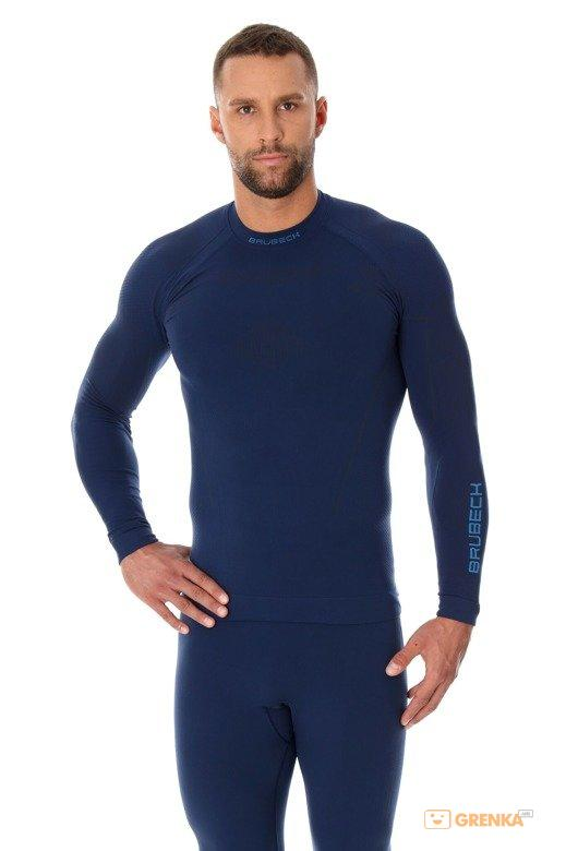 Купить Мужская термофутболка с длинным рукавом Brubeck Thermo dark blue L (LS13040-dark blue-L)