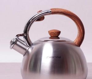 Подарок Чайник Kamille 2л из нержавеющей стали со свистком (0694N)