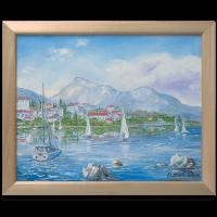 Подарок Картина 'Гавань' 466x566 мм, масло, холст
