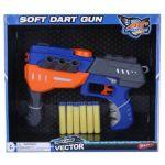 Пистолет 'Бластер' с мягкими пулями-присосками 6 шт (QB302)