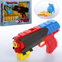Пистолет 'Бластер' с мягкими пулями-присосками 6 шт, водяными пулями, мишенью (RD8810-13)