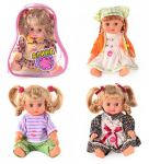 Кукла 'Алина' со звуком в рюкзаке 4 вида (5063-64-58-65)