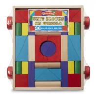 Набор деревянных блоков на тележке (MD14209)