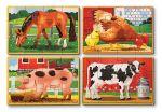 Набор из 4 пазлов Melissa & Doug 'Животные на ферме' (MD13793)