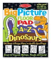 Гигантская раскраска с динозаврами Melissa & Doug 'Английский алфавит' (MD19111)