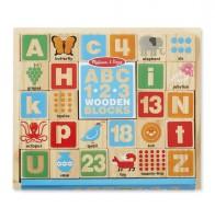 Деревянные блоки Melissa & Doug 'Цифры/Буквы' (MD2253)