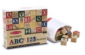 Деревянная азбука/цифры на кубиках Melissa & Doug (MD1900)