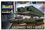 Сборная модель Revell 'Танк Leopard 1A5 + танковый мостоукладчик Bridgelayer Biber' 1:72 (03307)