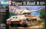 Сборная модель Revell 'Танк Tiger II Ausf. B (Porsche Prototype Turret)' 1:72 (03138)