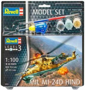 Сборная модель Revell Вертолет 'Mil Mi-24D Hind' 1:100 (64951)