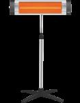 Инфракрасный обогреватель UFO City 1700 + телескопическая ножка UFO UTS/UA (8690063689285)