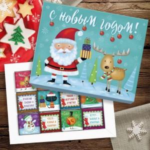 Подарок Шоколадный набор 'С Новым Годом' (маленький, 60 г)