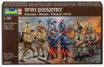 Модель для сборки Revell 'Набор фигурок WWI INFANTRY German/British/French (1914), 1:35' (02451)