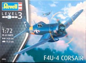 Модель для сборки Revell 'Палубный истребитель F4U-4 Corsair, 1:72' (03955)
