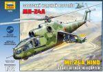 Сборная модель Звезда 'Советский ударный вертолет Ми-24А' 1:72 (7273)