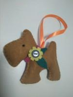 Подарок Елочная игрушка ручной работы 'Собака'