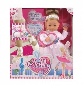 Интерактивная кукла Bambolina Molly Балерина (BD1338-50SUA)