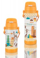 Термокружка детская Maestro 500 мл оранжевая (MR1640-50)