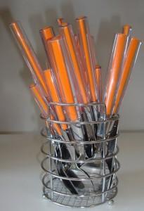 Набор столовых приборов на подставке Maestro 25 предметов оранжевый (MR1531)
