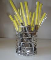Набор столовых приборов на подставке Maestro 25 предметов желтый (MR1531)