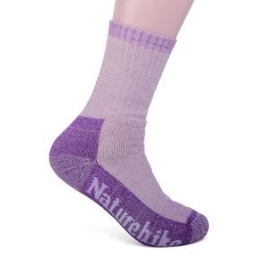 Носки трекинговые женские NatureHike 'Merino wool Light' S purple (NH17A012-W)