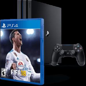 Приставка Sony Playstation 4 Pro 1000gb + Игра FIFA 18