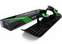 Монолыжа Plastkon OneFoot Miniski черная с зеленым (49650)