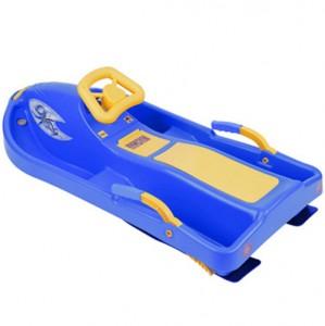 Санки с рулем Plastkon Snow boat синие (42521)