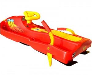 Санки с рулем Plastkon Snow boat красные (42522)