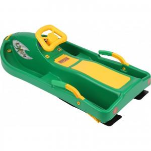 Санки с рулем Plastkon Snow boat зеленые (42520)
