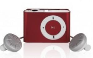 MP3 плеер с наушниками (красный)