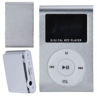 MP3 плеер c дисплеем и наушниками (серебрянный)