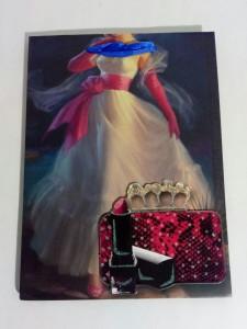 фото Подарочный пакет с 3D аппликацией и глиттером (24 х 18 х 9 см) #4