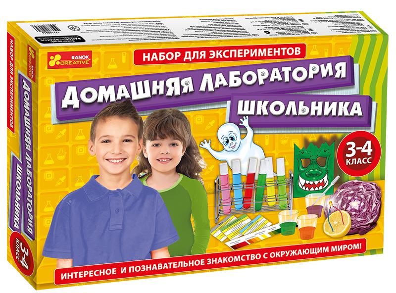 Купить Набор для экспериментов 'Домашняя лаборатория школьника. 3-4 класс', Ranok