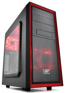 Корпус Deepcool TESSERACT SW RED Middletower без БП ATX/mATX/mITX черный с красной подсветкой и окном (TESSERACT SW RED)