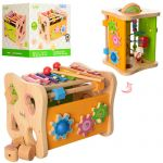 Деревянная игра-логика (сортер, ксилофон, трещотка) (MD 1062)