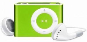 MP3 плеер с наушниками (зеленый)